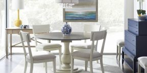 Gat Creek Taylor Table, Bella Side Chairs and Talmadge Chest