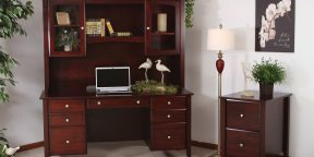 Maple Hill Desk_Hutch
